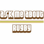 Ask Me About Rugby Acrylic Cut Outs