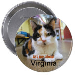 Ask Me About Virginia Button