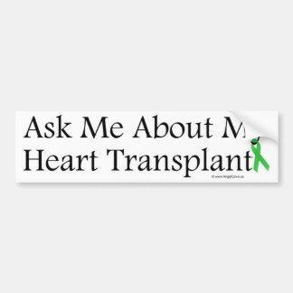 Ask Me Heart Car Bumper Sticker