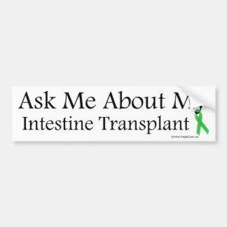 Ask Me Intestine Car Bumper Sticker