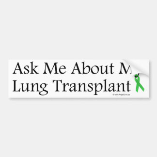 Ask Me Lung Bumper Sticker