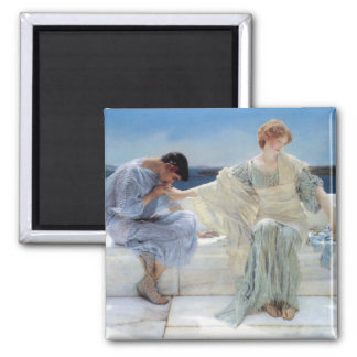 Ask Me No More by Alma Tadema, Vintage Romanticism Magnets