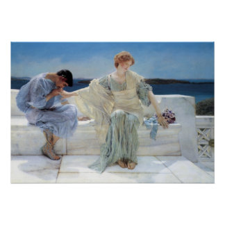 Ask Me No More by Alma Tadema, Vintage Romanticism Poster