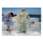 Ask Me No More by Sir Lawrence Alma Tadema Greeting Cards