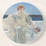 Ask Me No More by Sir Lawrence Alma Tadema Beverage Coaster