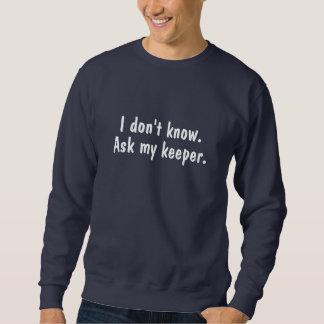 Ask My Keeper Dark Blue Sweatshirt