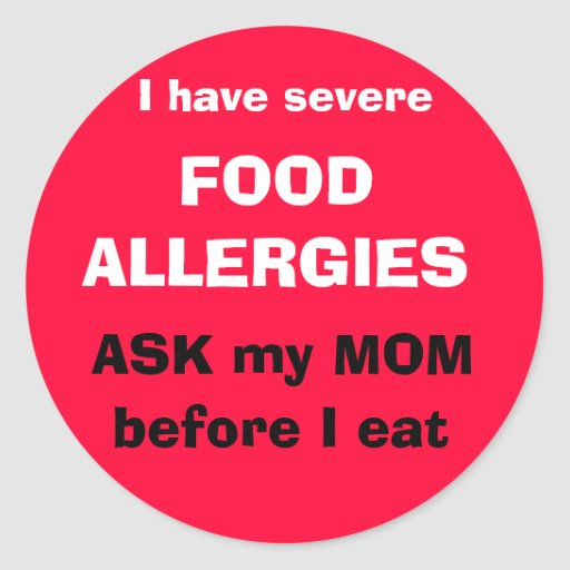 Ask my MOM before I eat Round Stickers