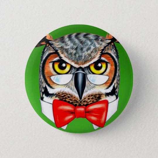 Ask Owl 6 Cm Round Badge