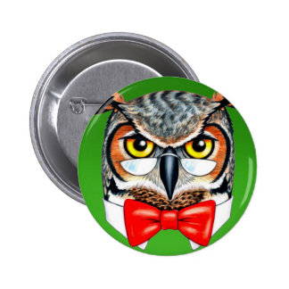 Ask Owl 6 Cm Round Badge