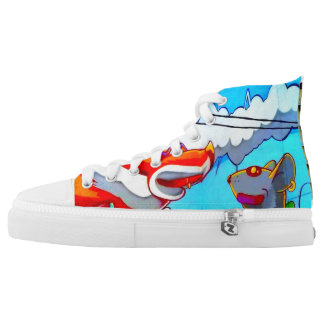 """""""Ask the Fox wheres the Rat"""" Shoes by WABStreetArt Printed Shoes"""