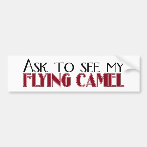 Ask to See My Flying Camel Bumper Sticker