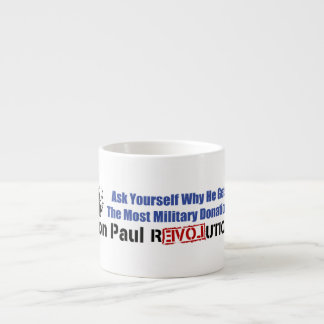 Ask Yourself Why He Gets Most Military Donations Espresso Mug