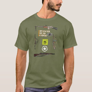 ASL Airborne Squad with Weapon Border and Roundel T-Shirt