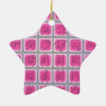ASL AMERICAN SIGN LANGUAGE ALPHABET & NUMBERS CHRISTMAS TREE ORNAMENT