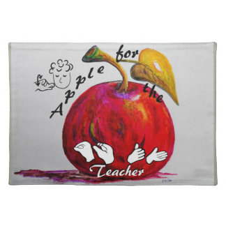ASL Apple for the Teacher Placemat
