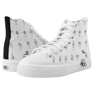 ASL Chart High Top Shoes