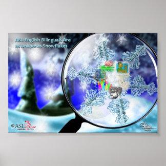 ASL-English Bilinguals - Snowflakes Poster