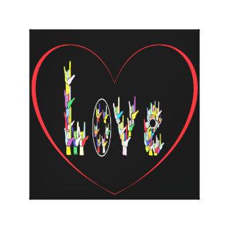 ASL Heart Full of Love Canvas Print