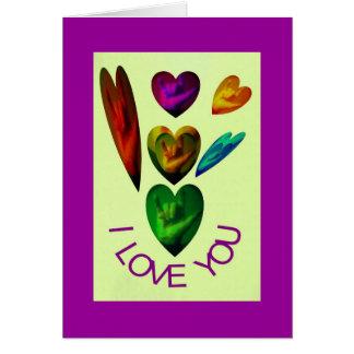 ASL Hearts Speak I Love You Greeting Card