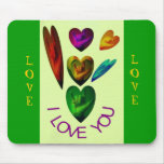 ASL Hearts Speak  I Love You Mouse Pad