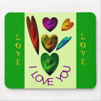 ASL Hearts Speak I Love You Mouse Pads