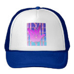 ASL ILY Purple and Blue Cap