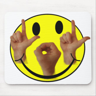 ASL LOL SMILEY FACE MOUSE MAT