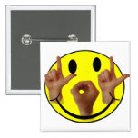 ASL LOL SMILEY FACE PINS