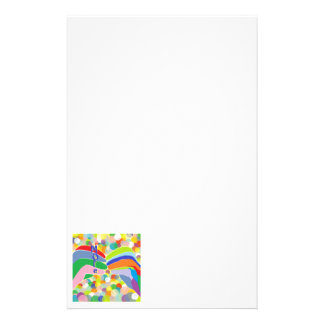 "ASL ""MORE"" on a Bright Bubble Background Personalized Stationery"