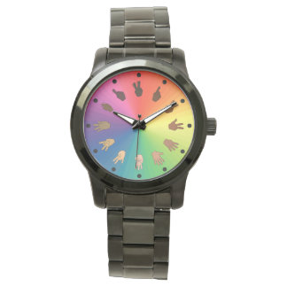 ASL Numbers Colour Wheel Watch (Minute segments)