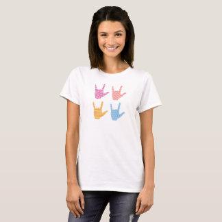 ASL Sign Language I Love You Patterns T-Shirt