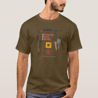 ASL Soviet 1st Line Squad with Weapon Border T-Shirt