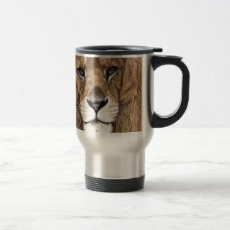 Aslan the Lion Original Pastel Art Travel Mug