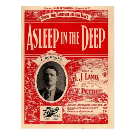 Asleep in the Deep - Great Nautical Song Postcard