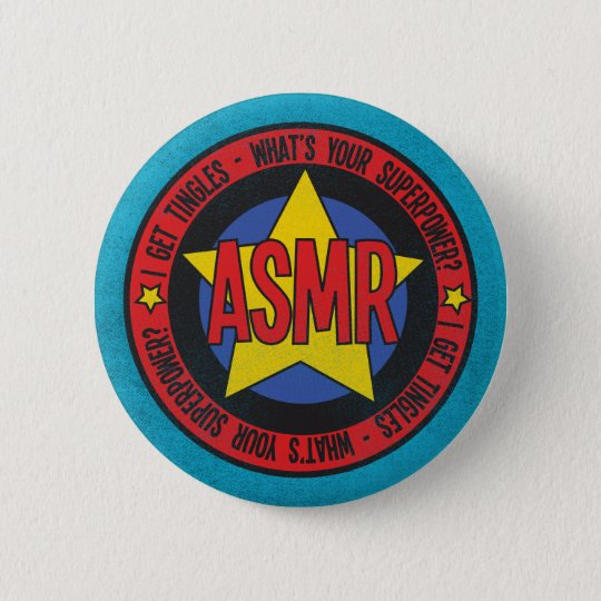ASMR What's Your Superpower Distressed Logo 6 Cm