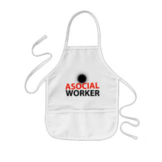 Asocial Worker Kids Apron