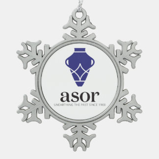 ASOR Pewter Snowflake Ornament