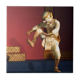 aspara dancer monkey. Cambodia Small Square Tile
