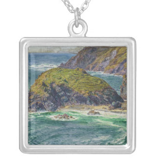 Asparagus Island Silver Plated Necklace