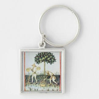 Asparagus Pickers, 13th century Key Ring