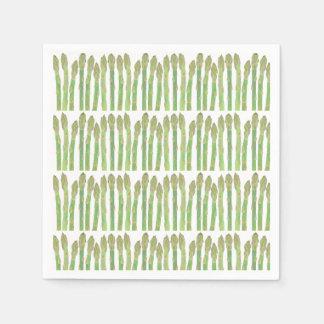 Asparagus salad paper napkin