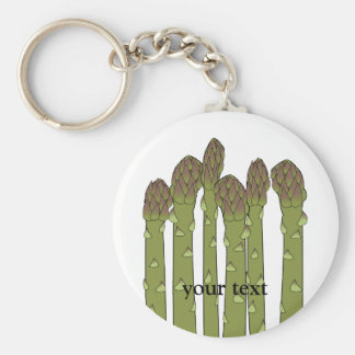 Asparagus Spears Vegetable Lover Veggies Basic Round Button Key Ring