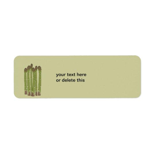 Asparagus Spears Vegetable Lover Veggies Return Address Label