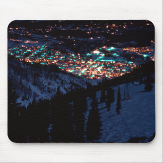 Aspen at night from Bell Mountain Mousepad