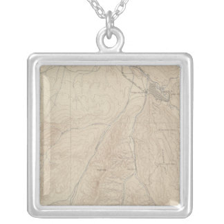 Aspen Atlas Sheet Silver Plated Necklace