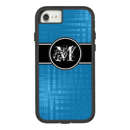 Aspen Blue Monogram Cover For iPhone 8/7