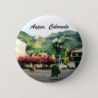 Aspen, Colorado 6 Cm Round Badge