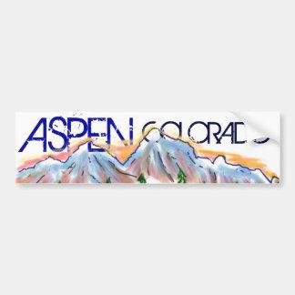 Aspen Colorado artistic mountain sticker Bumper Sticker