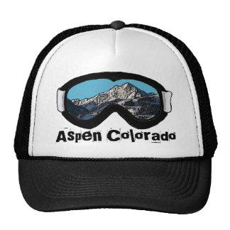 Aspen Colorado black snow goggle hat