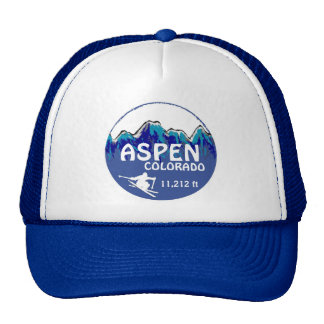 Aspen Colorado blue ski art hat